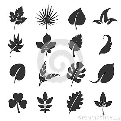 Free Tree Leaf Silhouettes. Leaves Vector Illustration  On White Background Stock Photo - 83139010