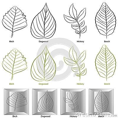Tree Leaf Type Set