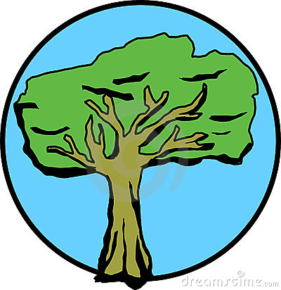 tree with leaves in spring. Vector file available