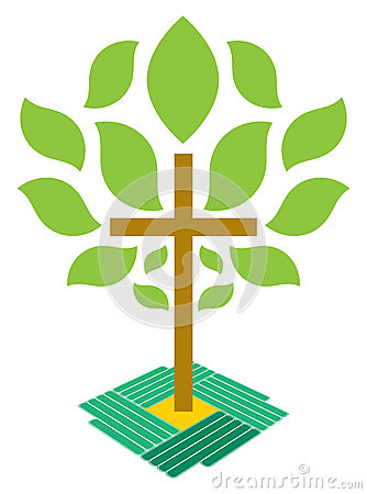 The Tree of Life Christianity Cross Logo