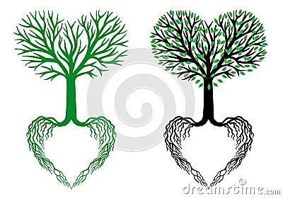 Tree of life, heart tree, vector Vector Illustration
