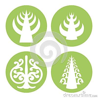 Tree of Life. Vector Cartoon Illustration