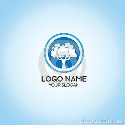 Tree Logo Template Stock Photo