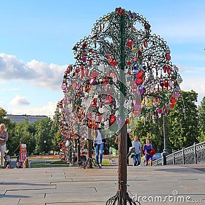 Tree of Love Editorial Stock Photo
