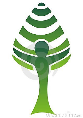 Tree-man logo