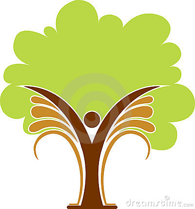 Tree man logo