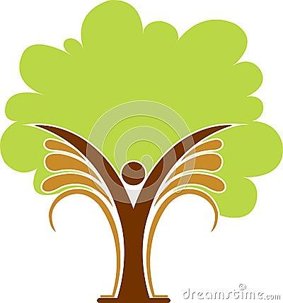 Tree man logo
