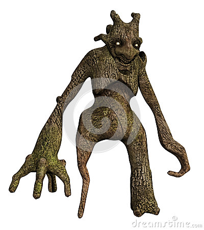 Free Tree Monster With Long Arms Stock Photo - 34100850
