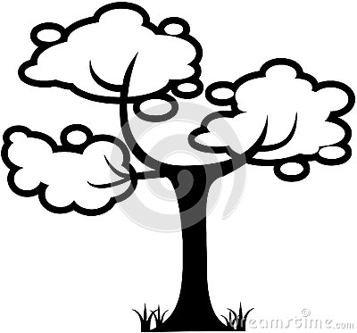 Tree Nature leaf template Cartoon Vector Clipart created in Adobe ...