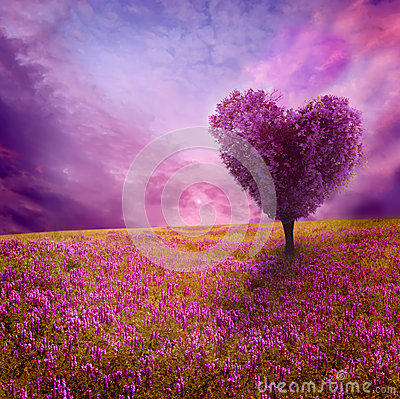 Free Tree Of Love Royalty Free Stock Photos - 37616208