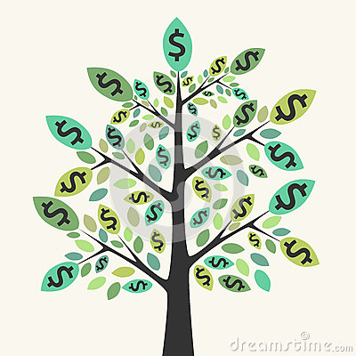 Free Tree Of Money, Wealth And Success Royalty Free Stock Photography - 66232417