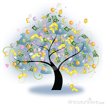 Free Tree Of Wealth (vector) Royalty Free Stock Photos - 24461638