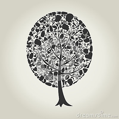 Tree of a part of a body