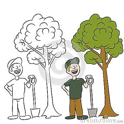 Tree Planting Man