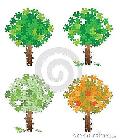 Tree puzzle set