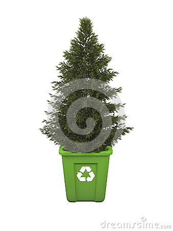 Tree in recycle bin