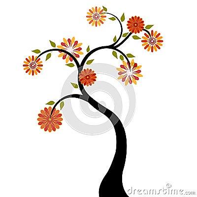 Orange Flowers Pictures. TREE WITH RED ORANGE FLOWERS