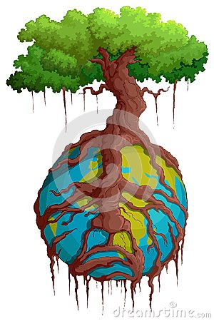 Tree Root holding Earth