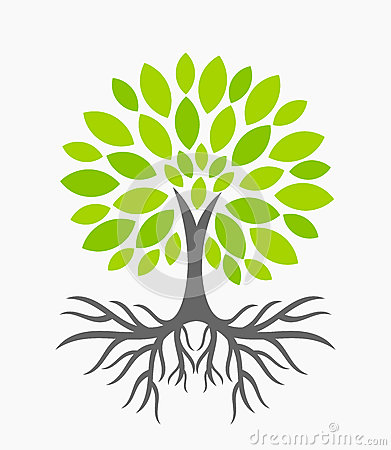 Tree with roots Vector Illustration