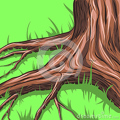 Tree and roots. Vector Illustration