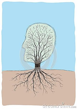 Tree-shaped head