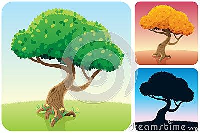 Tree Square Landscapes