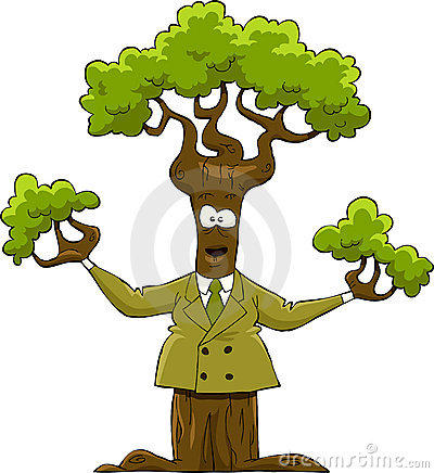 Tree in a suit