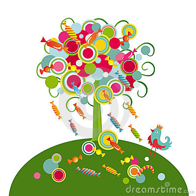 Tree with sweets