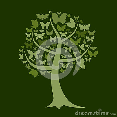 Free Tree The Butterfly Royalty Free Stock Images - 27434499