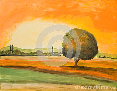 Tree in a Tuscany Landscape