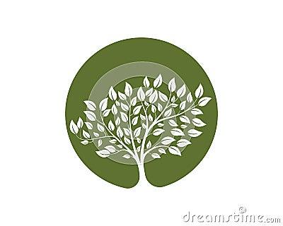 tree vector icon logo green Stock Photo