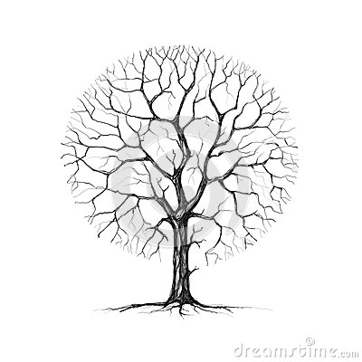 A Tree, Winter, Drawing Royalty Free Stock Image - Image ...
