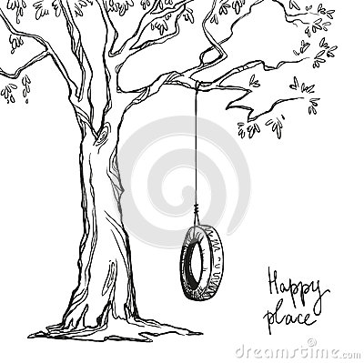 Free Tree With A Swing Royalty Free Stock Photography - 50196467