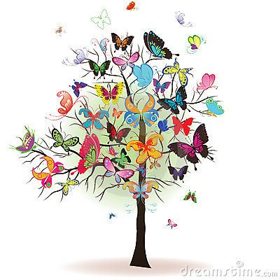 Free Tree With Butterfly Stock Photo - 17857470