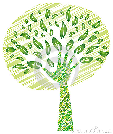 Free Tree With Foliage - Big Hand As Trunk Royalty Free Stock Photos - 31744808