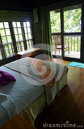 Treehouse interior, eco tourism resort