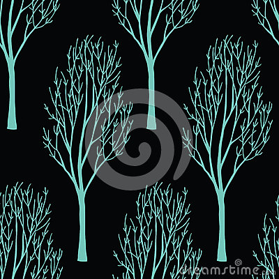 Trees on the dark background