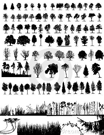 Free Trees, Grass, Plant Vector Royalty Free Stock Images - 3683659