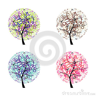 Trees with letters