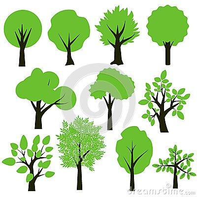 Free Trees Set Royalty Free Stock Images - 33826699