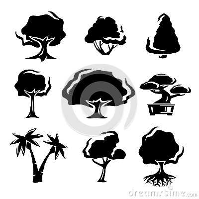 Trees set. Vector