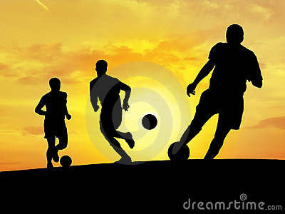Treinamento do futebol (por do sol)