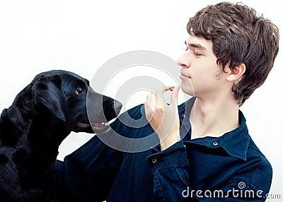 Treinamento positivo do cão