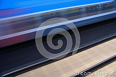 Trem no movimento