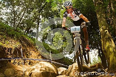 TREK Racing rider  at Momentum Health Int Editorial Photography