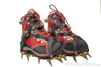 Treking boots with ther cramp