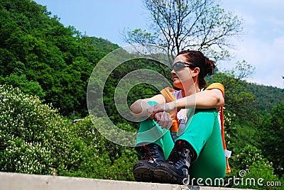 Trekker in Herculane
