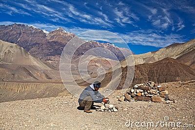 Trekking in the Annapurna region Editorial Photo