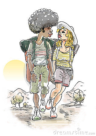 Trekking couple
