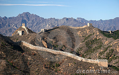 Trekking on Great Wall.